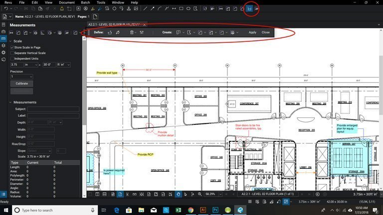 How to Calibrate a Page for Measurement Markups in Bluebeam Revu