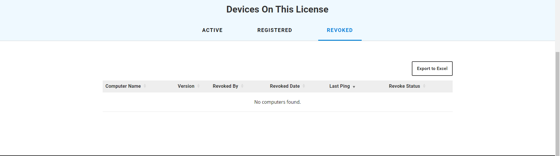 Revoked devices on open license in Bluebeam Revu